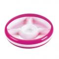 Peuterbord met vakjes roze