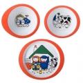 Boerderij Oranje kinderservies melamine 3-delig