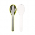 Ellipse cutlery lime 3-pieces (To Go)