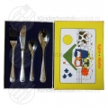Farm animals children's cutlery stainless steel 4-pieces