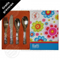 Raffi Flower children's cutlery stainless steel 4-pieces