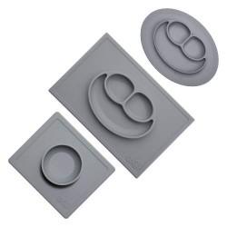 ezpz placemat set grijs 3-delig