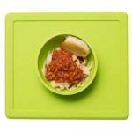 Happy Bowl kinderplacemat lime