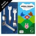 Animal Friends kinderbestek mat 4-delig