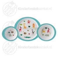 Animal Friends kinderservies melamine 3-delig